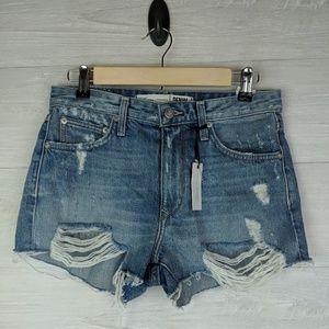 NWT Lovers + Friends Distressed Denim Shorts